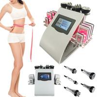6in1 40K 초음파 Cavitation 슬리밍 기계 8 패드 레이저 진공 RF 지방 흡입 스킨 케어 살롱 스파 미용 장비