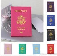 لطيف usa جواز السفر تغطية النساء الوردي السفر جواز السفر حامل الأغطية الأمريكية لجواز السفر الفتيات القضية الحقيبة pasport dlh105
