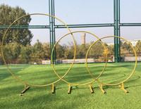 Большой размер свадебные крупные железные круглые кольца арки рама фона украшения цветной дверной рамы свадебные украшения реквизиты