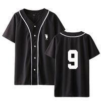 Anime Haikyuu Baseball T Shirt Uniform Uomini Karasuno Liceo Baseball Sportswear manica corta Via Hip Hop Jersey di baseball
