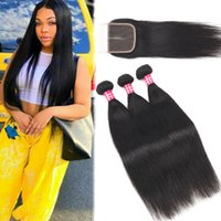 9A Silk Straight Brazilian Virgin Hair With 4x4 Lace Closure...