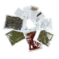 Bolsa de la joyería de las bolsas de plástico resellable del olor blanco para el almacenamiento de la comida del té del café con el agujero del colgar