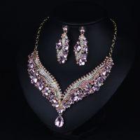 새로운 신부 크라운 액세서리 Tiaras 헤어 목걸이 귀걸이 액세서리 웨딩 쥬얼리 세트 저렴한 가격 패션 스타일 신부 Dro329