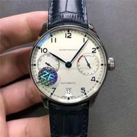 ZF New Portugieser relógio suíço 52010 Movimento automático 28800 vph cinta indicação da reserva 316L aço capa cristal de safira Poder Itália Couro