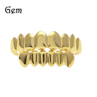 Hip Hop Or Dents Grillz Haut Bas Grils Dentaire Bouche Punk Dents Caps Cosplay Parti Dent Rappeur Bijoux Cadeau XHYT1001