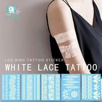 Vente chaude protection de l'environnement mode étanche autocollant de tatouage Hanna dentelle mariée autocollant de tatouage blanc tatouage temporaire