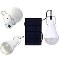 야외 가든 캠핑 텐트 낚시 휴대용 LED 태양 램프 충전 된 태양 에너지 라이트 패널 전원 비상 전구