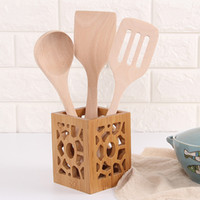 Bamboo Kitchen Cooking Utensil Tool Soup Catering Spoon Lacq...