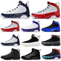 Горячая продажа мужчин баскетбол обувь 9 9s Gym Red Racer Синий UNC Разводят Citrus Антрацит OG пространство вареньем мужские спортивные тренеры кроссовки 7-13