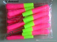 Agujas de gancho de 50pic de stock Punto de plástico y agujas de ganchillo para el trenzado Jumbo Twist Hair y tejido Dreadlocks Herramientas Y Demanda