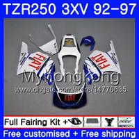 Kit per YAMAHA TZR250RR RS TZR250 92 93 94 95 96 97 245HM.40 TZR 250 3XV YPVS TZR 250 blu bianco caldo 1992 1993 1994 1995 1996 1997 Carenatura