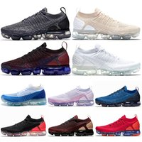 Nike Air Vapormax 2.0 Nouvel Athlétique Runnning Chaussures Gym Bleu ÉQUIPE ROUGE Volt Olympique CNY Red Orbit Noir Métallique Or Hommes Femmes En Plein Air Spots Sneakers 36-45