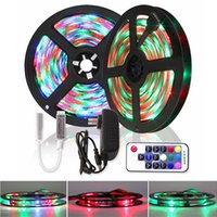 5M 10M 15M Bluetooth / Música RGB LED Strip 2835 Tape Diode DC 12V impermeável Tira Fita Led Light + Controle Remoto Adaptador UE