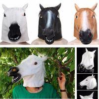 Korku atı Lateks Maske Nefes Yenilik Tam Yüz Baş Cadılar Bayramı Masquerade Fantezi Elbise Festivali Parti Dekorasyon ST029 Maskesi