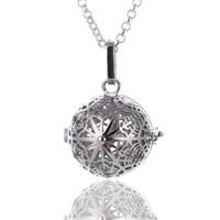 Collana pendente ciondolo medaglione in argento con pendente a forma di ciondolo a forma di gabbia di ferro