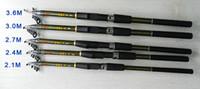 Hengjia telescópica caña de pescar 2,1 m 2,4 m 2,7 m 3,6 m 3m FRP Ultra Pesca barra luminosa Spinning caña de pescar FR901 el envío libre