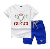Boys girls baby infants casual sports suit pocket T- shirt + ...
