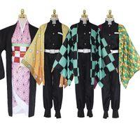 Demon Slayer Kimetsu No Yaiba Cosplay Costume Kamado Tanjirou Kamado Nezuko Agatsuma Zenitsu Tomioka Giyuu Cosplay Costume
