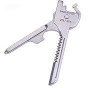 Новый SWISS + TECH 6 в 1 Utili-key мини многофункциональный брелок плоский и замок стеклянная отвертка открывалка для бутылок карманный нож EDC инструмент SN1894