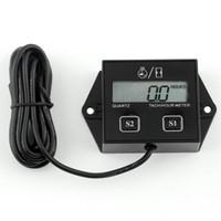 Display LCD Digital Motor Tach Hour Meter Tacômetro Indicador Indutivo Para O Motor Da Motocicleta Motor Acidente de Avião Quente 20