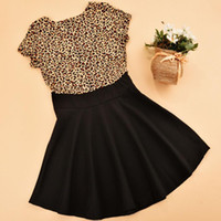good quality Kids Baby Girls Leopard Printing Short Sleevele...