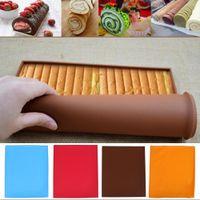 Forno de silicone Baking Mat Rolo Funcional Baking Macaron Não-vara Pad Swiss Roll Pad Ferramentas para Bolos Silicone Tap