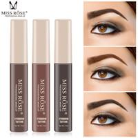Miss Rose 오랫동안 지속되는 눈썹 크림 Natural Liuqid Eyebrow 젤 문신 메이크업 눈썹 틴트 브라운 피그먼트 Black Eyebrow Enhancer