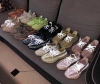 2020 جديد جديد كاني ويست كرة السلة أحذية mauve موجة توهج كلاي أنطفلية شكل hyperspace النساء أحذية رياضية عاكسة الحجم 13