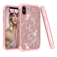For iPhone X XR XS Max Luxury bling Glitter phone case shock...