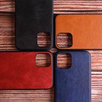Casi per Apple iPhone 11 12 13 Pro Max Pelle di lusso in pelle di lusso con morbido materiale TPU 2in1