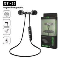 XT11 Bluetooth-Kopfhörer magnetischer drahtloser Laufsport-Kopfhörer Headset BT 4.2 mit MIC MP3 Earmud für iPhone LG Smartphones