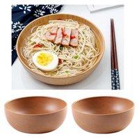 2x ciotola di legno Set snack servito per zuppa di cereali di stile giapponese articoli per la tavola 18 centimetri