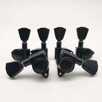 Siyah Grover Gitar Makine Başkanları Tunerleri Gitar Tuning Pegs Kore'de 3R + 3L Yapımı