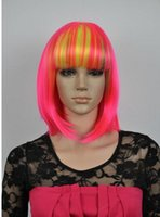 FREE SHIPPING+ + + Cosplay Short Multi color Mix Misaki Wig