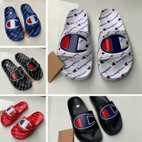 Unisex Champion Letter Sandals Summer Men Women Slipper Mule...