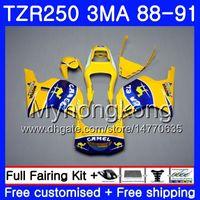 Corpo per YAMAHA TZR250RR RS RR YPVS TZR250 88 89 90 91 244HM.7 TZR-250 CAMEL blu giallo TZR250 3MA TZR 250 1988 1989 1990 1991 Kit carena