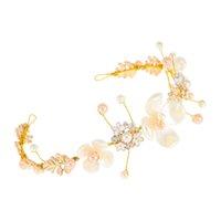 US Warehouse Pearl Flower Bride Hearddress Ручной Функция Европейская и Американская Алмаз Свадебная фотография Аксессуары для волос Ювелирные Изделия Подарок