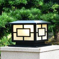 Солнечная мощность светодиодные стойки ландшафтные сад света ворота колонны освещение светодиодные открытый почтовый лампы для виллы палуба парка ярка