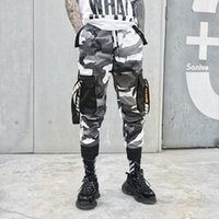 Camo Pants Men Fashion Cotton Streetwear Elastic Pants Hip H...