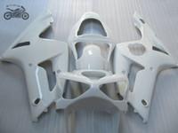 L'abitudine libera di carenature iniezione kit per Kawasaki Ninja ZX6R 2003 2004 ZX636 03 04 ZX6R 636 bianco di riparazione del corpo moto insieme della carenatura
