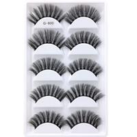 5 pares / set Falso EyeLashes 5 Pares 3D Natural Longo Cílios Falsos Ferramentas de Maquiagem G800 Handmade Acessórios 100 pcs com dhl frete grátis
