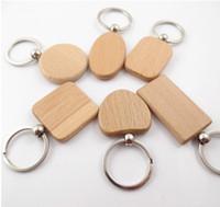 DIY chaveiro de madeira em branco de madeira personalizado melhor presente chave pingente de cadeia para os amigos graduação 6 estilos