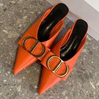Color de cuero genuino de las mujeres Sling-on Sandals Sandalias Slingback Elegant Ladies Summer Evening Bombas zapatos de fiesta