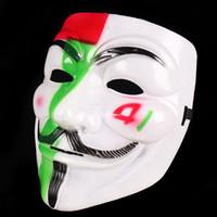 V Vendetta маски Halloween Светящиеся Маска Scary Костюмированный Hip Hop костюм анфас партии маски Cosplay Anonymous Prop GGA2752