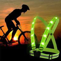 Laufsport Nacht LED-Leuchten Fahrrad Taschenlampe Verkehrssicherheit Warnung USB Charge Chest Lampe Strap Warnweste Schutzanzug T191226