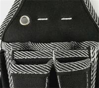 Hombre del electricista reparación Bolsa de herramientas multifunción Negro Blanco tela cruzada paquete de la cintura simple caja de herramientas Terylene conveniente ventas calientes 15 29rdC1