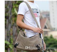 Men's Laptop Sleeve Bag Briefcase Business Crossbody Bags Canvas Shoulder Sling Messenger Satchel School Vintage Sflhg Taoqj