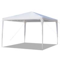 3x3m Party Wedding Tenda patio patio a baldacchino resistente impermeabile gazebo padiglione 10x10ft bianco con tubi a spirale