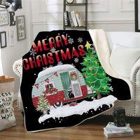 Merry Christmas Battaniye Dikdörtgen Peluş Battaniye Atmak Polar Pelerinler Çocuk Yatak Sac Kapak Kalınlaşma Manto Yatak Örtüsü 8 stil GGA2590