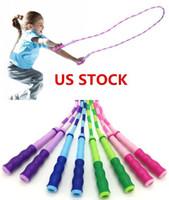 Amerikaanse voorraad -bamboe festival patroon springtouw voor verlies gewicht en fitness oefening voor kinderen en volwassen kraal touw springtouw FY7058